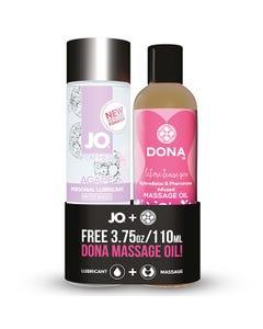 Agape Gleitgel & Gratis Dona Massageöl - 120 ml