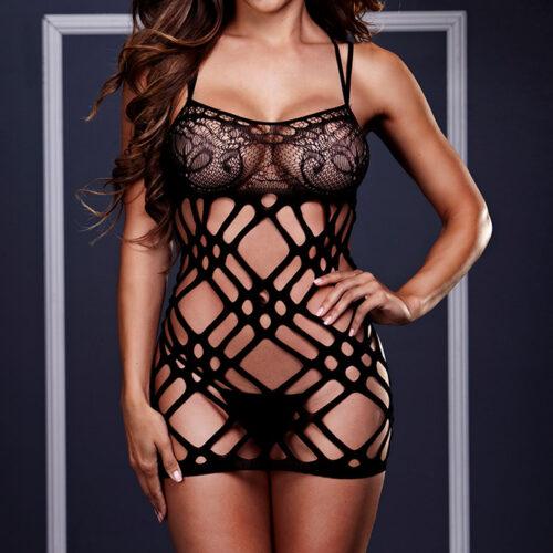 Baci Lingerie Kleid mit Netz- und Spitzendetails
