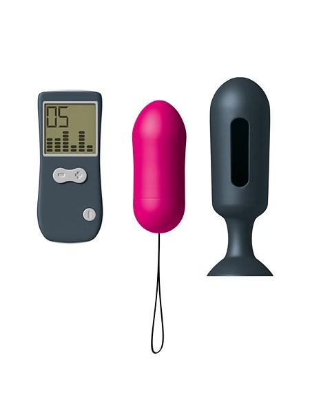 Dorcel Genius Secret Vibe: Vibro-Ei mit Analplug, pink/grau