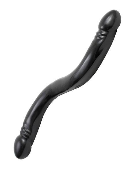 Double Header Dong: Doppeldildo, schwarz