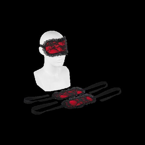 EIS Fesseln aus Spitze mit Augenmaske, 3 Teile
