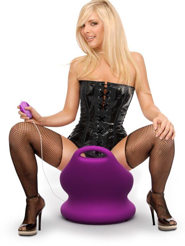 Fetish Fantasy Rockin' Chair: Vibro-Stuhl, magenta