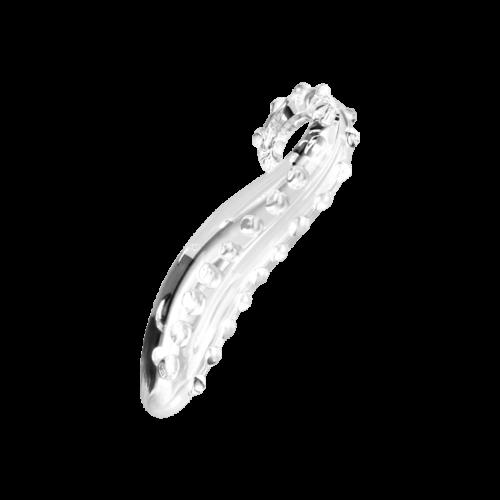 Geschwungener Glasdildo, 14 cm