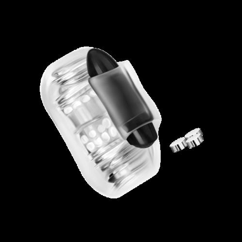 Handlicher Masturbator mit Vibro-Bullet, 9 cm