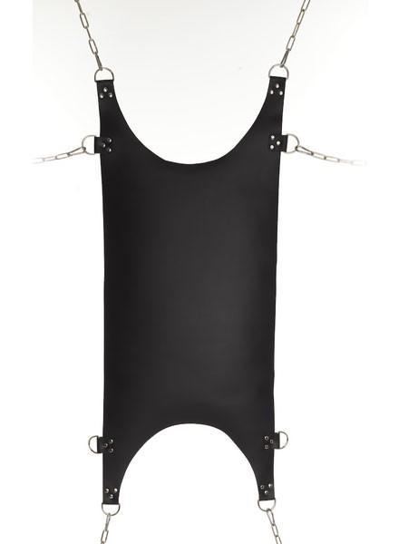 Leder Hängematte schwarz, 44x110cm