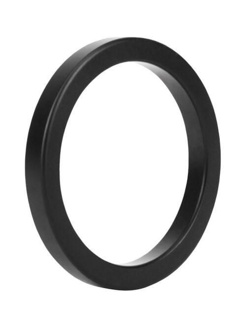 Malesation Metal Ring Black Stamina: Aluminium-Penisring, schwarz (50mm)