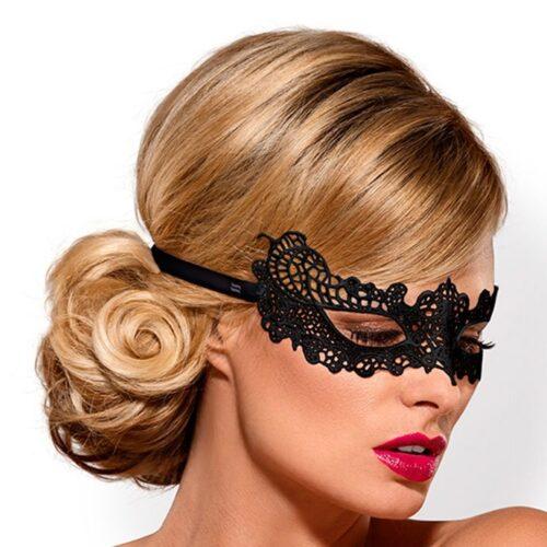Obsessive Maske aus Guipure-Spitze