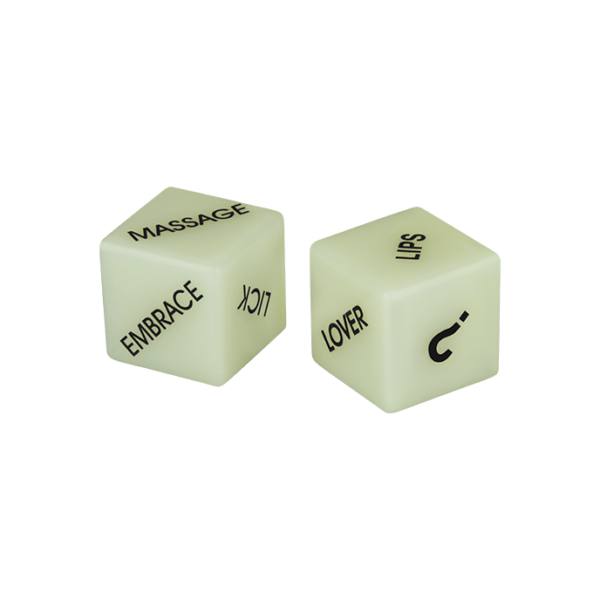 Out Of The Blue KG 'Glow in the Dark Love Dice', 2 Stück