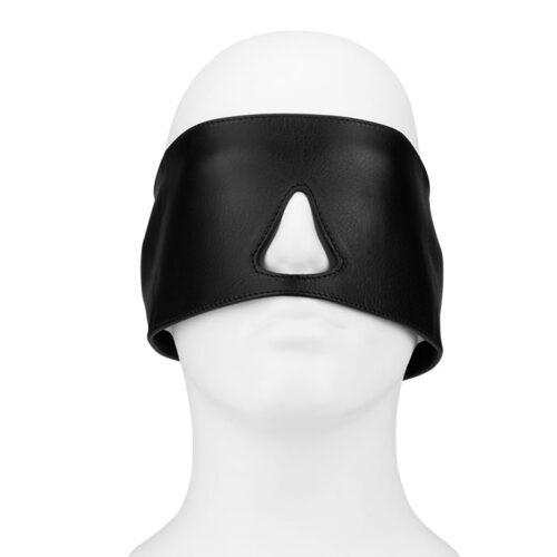 Rimba Blickdichte Leder-Maske mit Schnürung