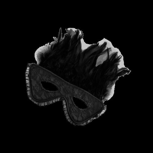 Rimba Verführerische Maske mit Federn