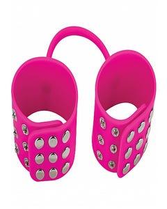 Silikon-Handschellen - Pink