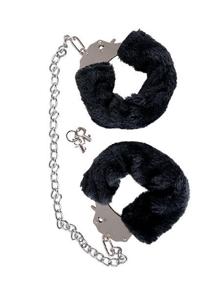 The Bigger Handcuffs: Plüsch-Handschellen, schwarz