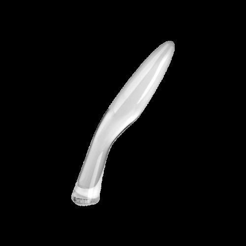 Geschwungener Glasdildo, 20 cm