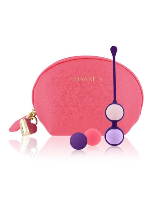 Rianne S Pussy Playballs: Liebeskugeln und Toybag, lila/pink