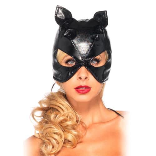 Leg Avenue Katzen-Maske in Leder-Design