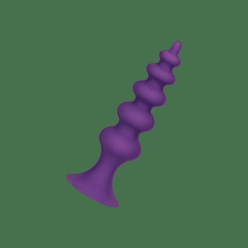 Strukturierter Silikon-Analdildo, 12 cm